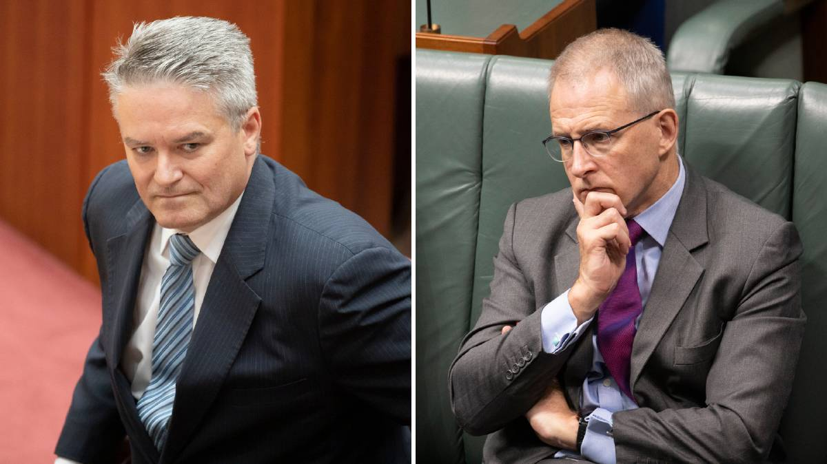 Finance Minister Mathias Cormann (left) and Communications Minister Paul Fletcher say the changes are necessary and only temporary.