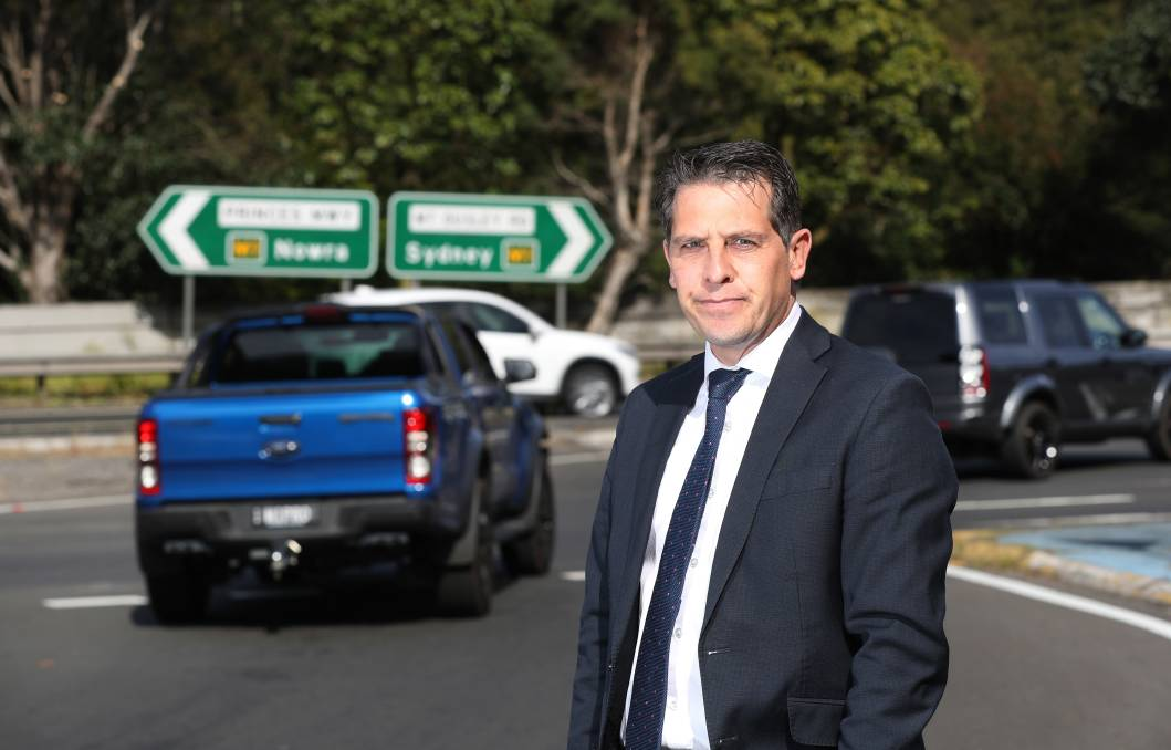 Not happy: Keira MP Ryan Park was not impressed that the Mt Ousley interchange was overlooked in the state budget handed down on Tuesday. Picture: Robert Peet