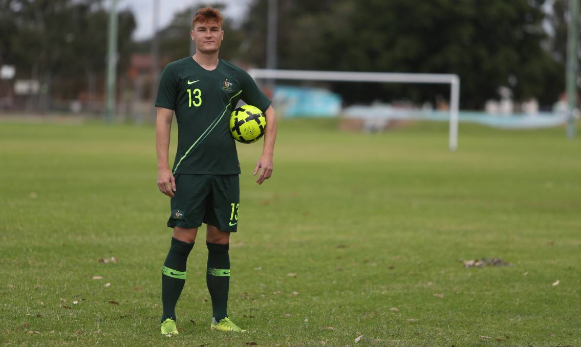 NEW CHAPTER: Wollongong's Phillip Cancar, wearing his Young Socceroos uniform, has signed with A-League club Western Sydney Wanderers. Picture: Robert Peet