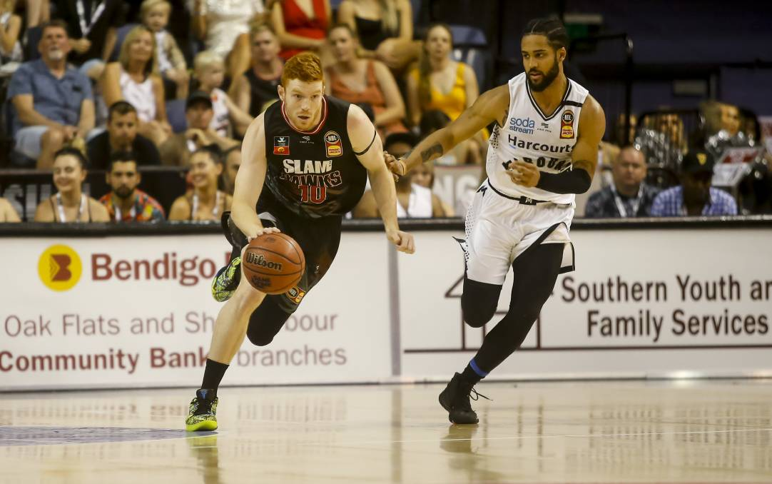 HIGHER HONOURS: Homegrown Hawks player Angus Glover has been included in the Boomers squad for the FIBA Asia Cup Qualifiers. Picture: Anna Warr