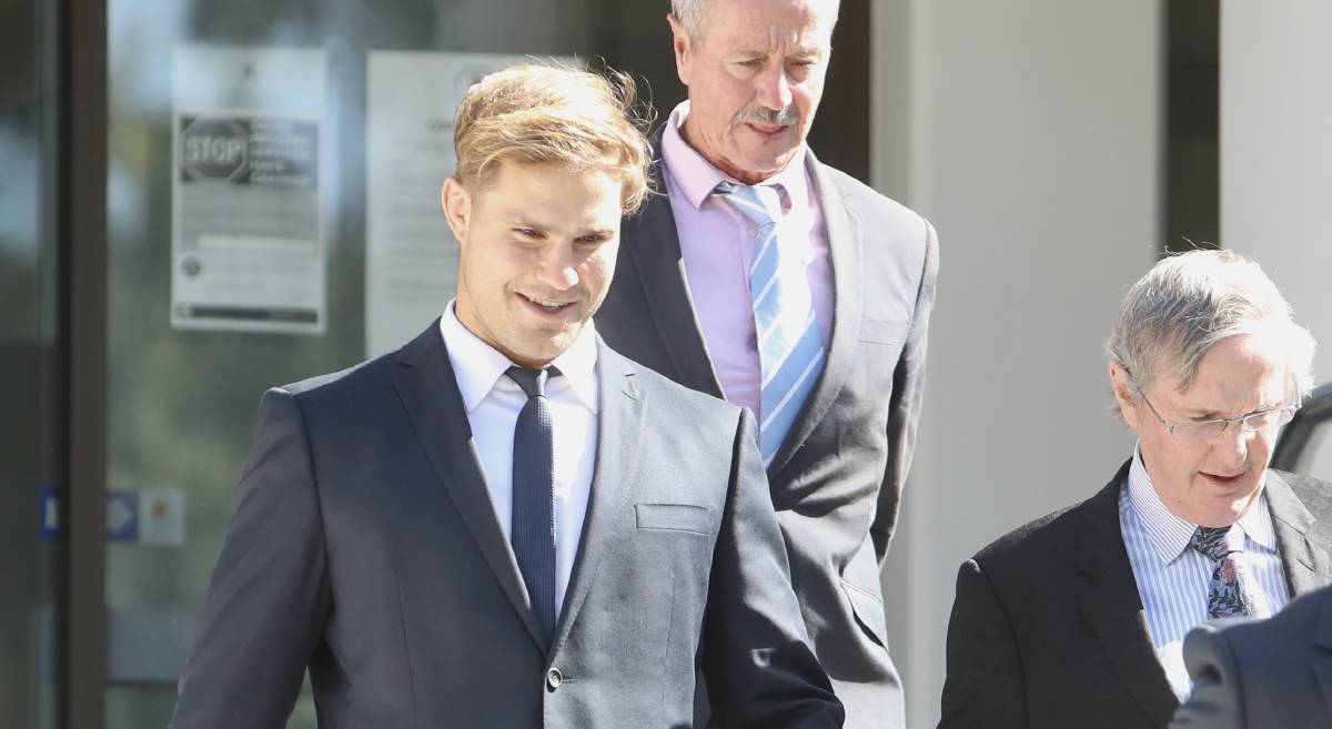 A smiling Jack de Belin walks out of court after a jury heard recorded tapes of a phone conversation he had with his sister, mother and friends. Picture: Adam McLean