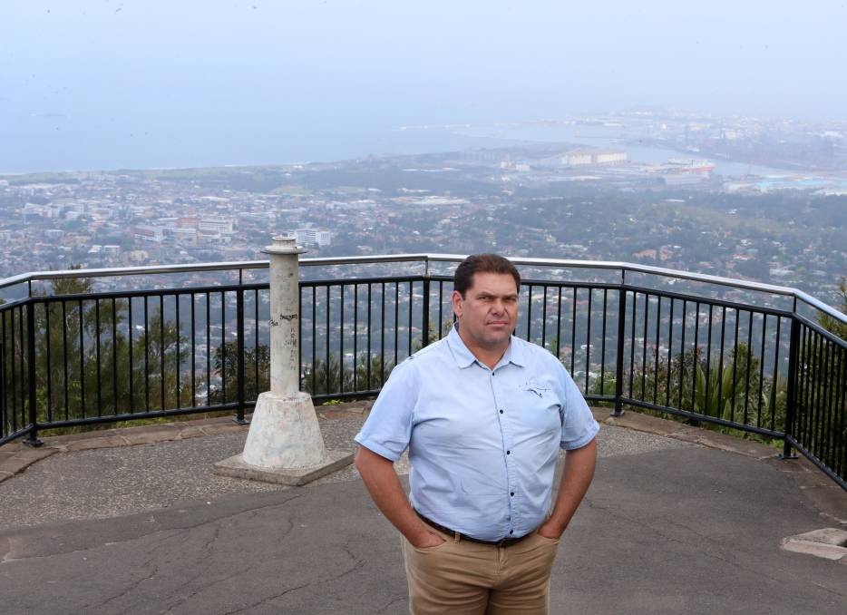 Objection: The Illawarra Local Aboriginal Land Council executive officer Paul Knight does not support allowing mountain bike riding on Mount Keira or Mount Kembla. Picture: Sylvia Liber