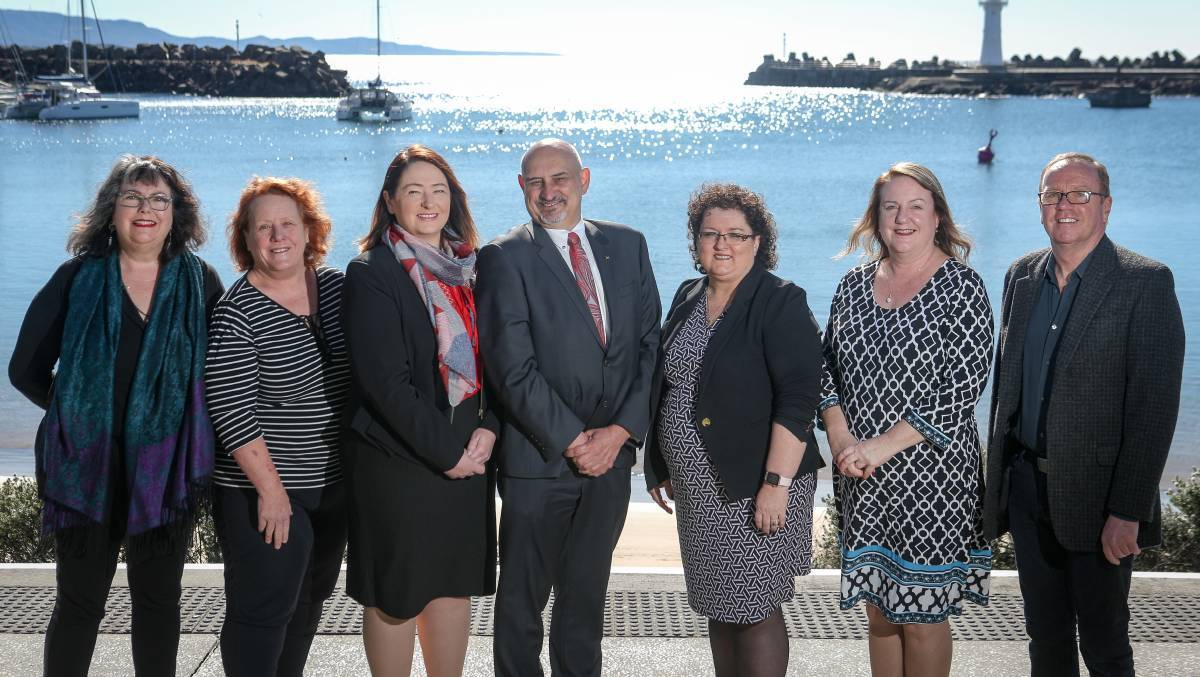 Vicky King, pictured second from left, with other Labor candidates in 2017. (Left to right): Ann Martin, Vicky King, Jenelle Rimmer, David Brown, Tania Brown, Janice Kershaw and Richard Martin. Picture: Adam McLean