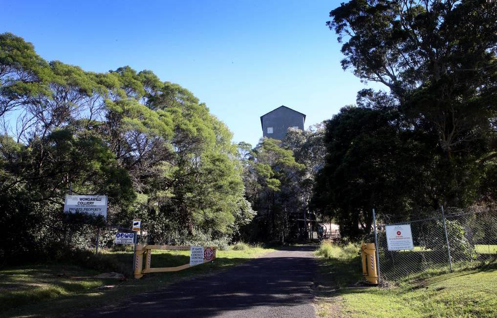 The land to be developed is south of the entry to the Wollongong Coal mine.