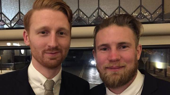 Mates: Antony Stott (left) pictured with his brother Kevin, who was by his side when he died. Picture: Facebook