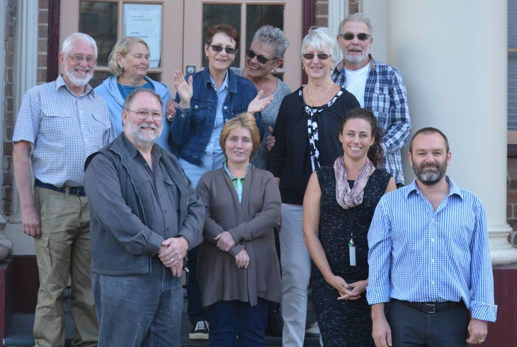 Dementia Advisory Group members in 2016 (back from left) Graham Fairbairn, Robyn Fairbairn, Veda Meneghetti, Lynda Henderson, June Hass, Ray Hass and (front from left) Dennis Frost (chairperson), Tina Baker, Dementia Friendly Project officer Melissa Andrews and Kiama council's community and cultural development manager Nick Guggisberg.