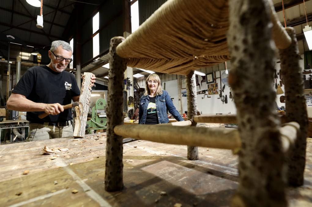 CRAFTY: Stuart and Suzanne Montague have noticed an increase in people to their Illawarra Woodwork School. Picture: Adam McLean