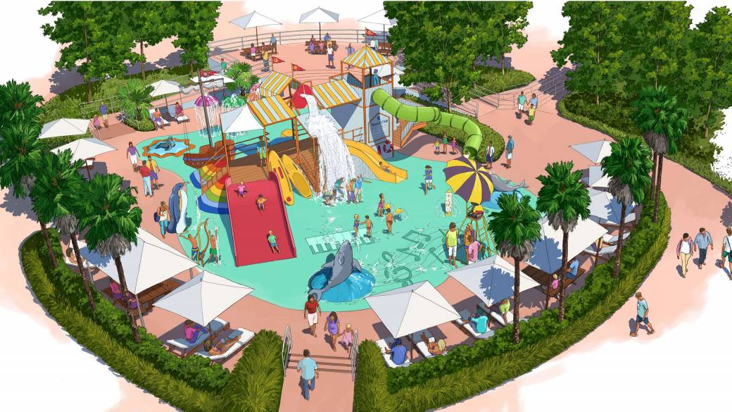 KOALA KOVE: An interactive waterplay zone with wet deck for children and toddlers.  Pictures: Artist Impressions