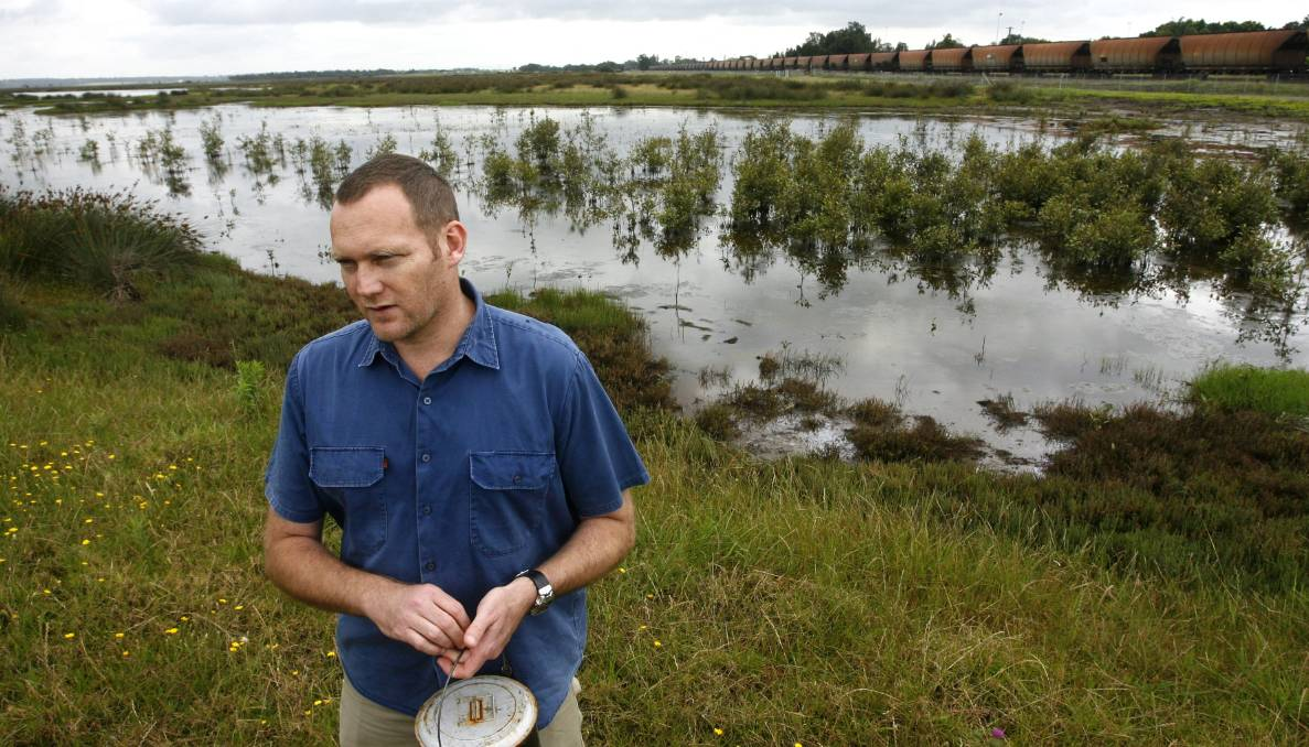 A complex ecosystem: Dr Cameron Webb found that there had been a steady increase in wetland predators since the Hexham floodgates were opened a decade ago.