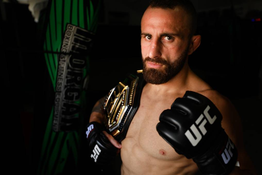 OFF: Alex Volkanovski's UFC 260 bout with Brian Ortega has been postponed after the Wollongong fighter tested positive for COVID-19. Picture: Adam McLean