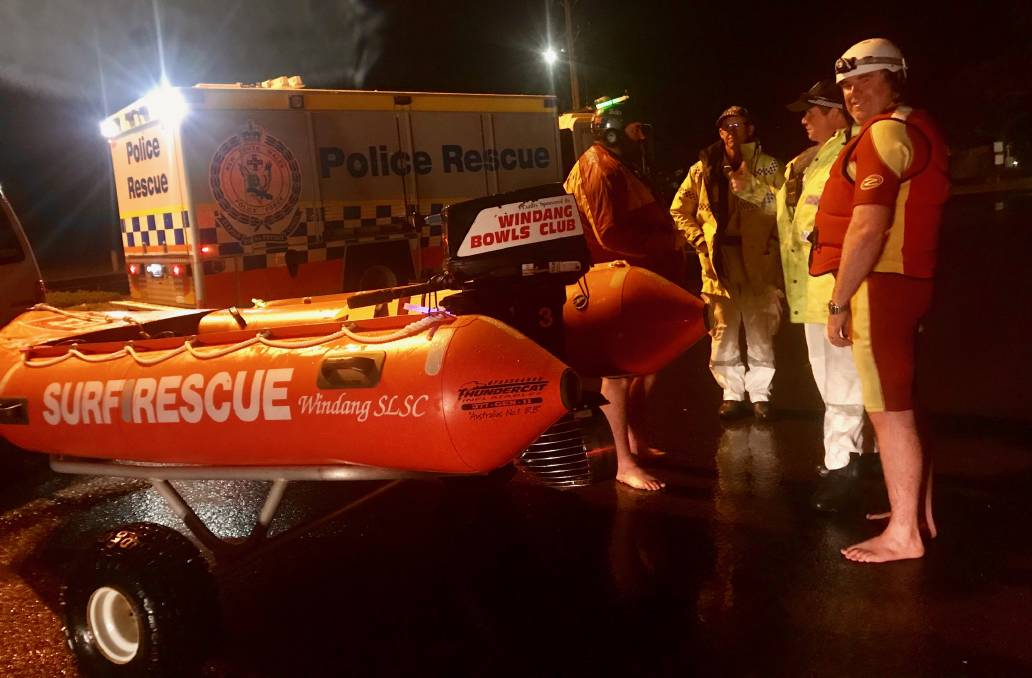Rescuers with the IRB used on Friday. Picture: Surf Life Saving Illawarra