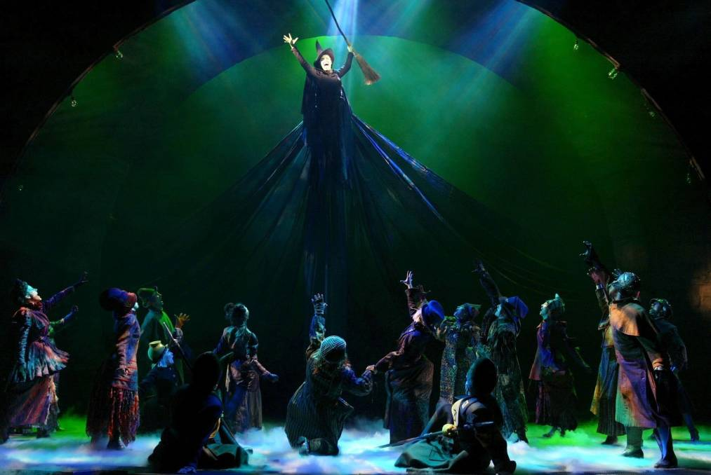 A New York production of 'Wicked: The Untold Story of the Witches of Oz'. Picture: AP/Joan Marcus)