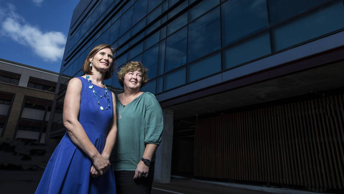 Better care: Professor Victoria Traynor and Nicole Britten from UOW's School of Nursing have helped develop a competency training framework for nurses working in aged care. Picture: Paul Jones