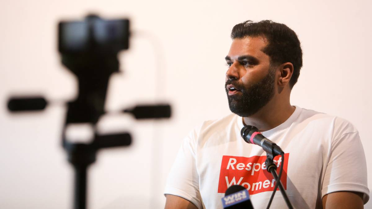 Time for change: Anti-violence campaigner Tarang Chawla in Wollongong on Wednesday. Photos: Adam McLean