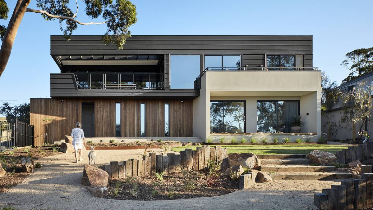PRIVATE RETREAT: The Treetops House on the Mornington Peninsula by Bryant Alsop Architects. The brief was to create the notion of a weekender - evoking images of architectural simplicity and isolation where owners can escape their weekday life and reconnect with themselves and their environment. Pictures: Jack Lovel.