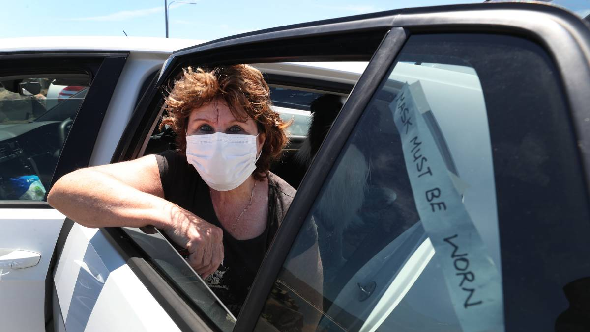 NOT HAPPY: Wollongong's beloved Uber Granny wants people to obey the rules and wear masks in her car. Picture: Robert Peet.