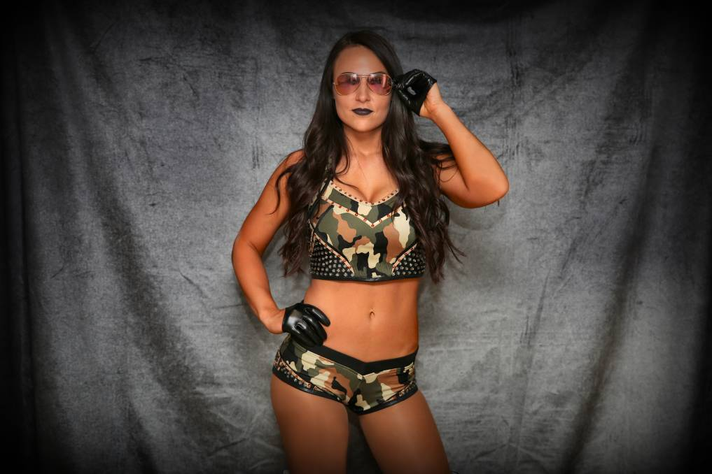 WRESTLING: Former WWE Superstar Tenille Dashwood, aka Emma, will appear at Rock 'n' Roll Wrestling's Wollongong show on Saturday night. Doors are at 7pm.
