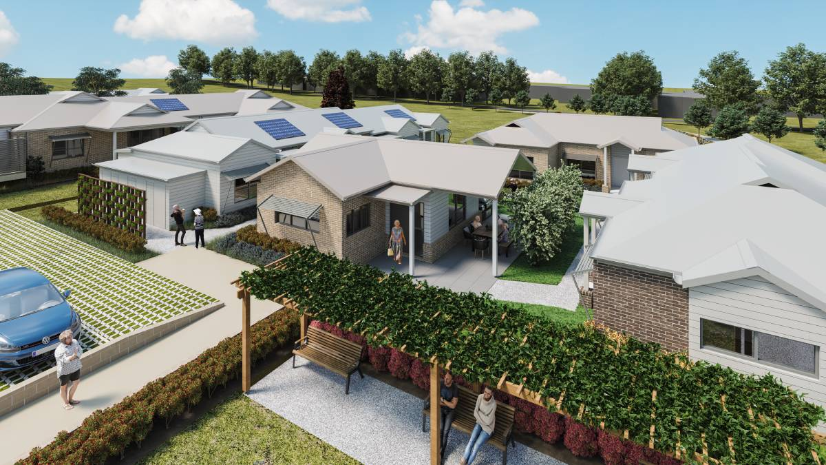 An artist's impression of IRT Jasmine Grove, a new housing development for women over 55 living on their own.