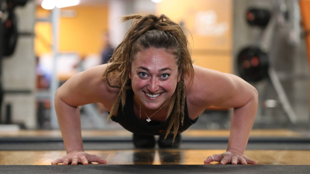 Push yourself: Kiama's One Fitness manager Courtney Amburg is calling on the community to show how much it cares about its youth. Picture: Robert Peet