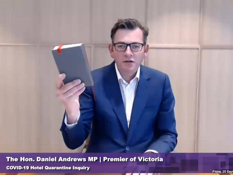 Premier Daniel Andrews apologised to Victorians when he fronted the hotel quarantine inquiry.