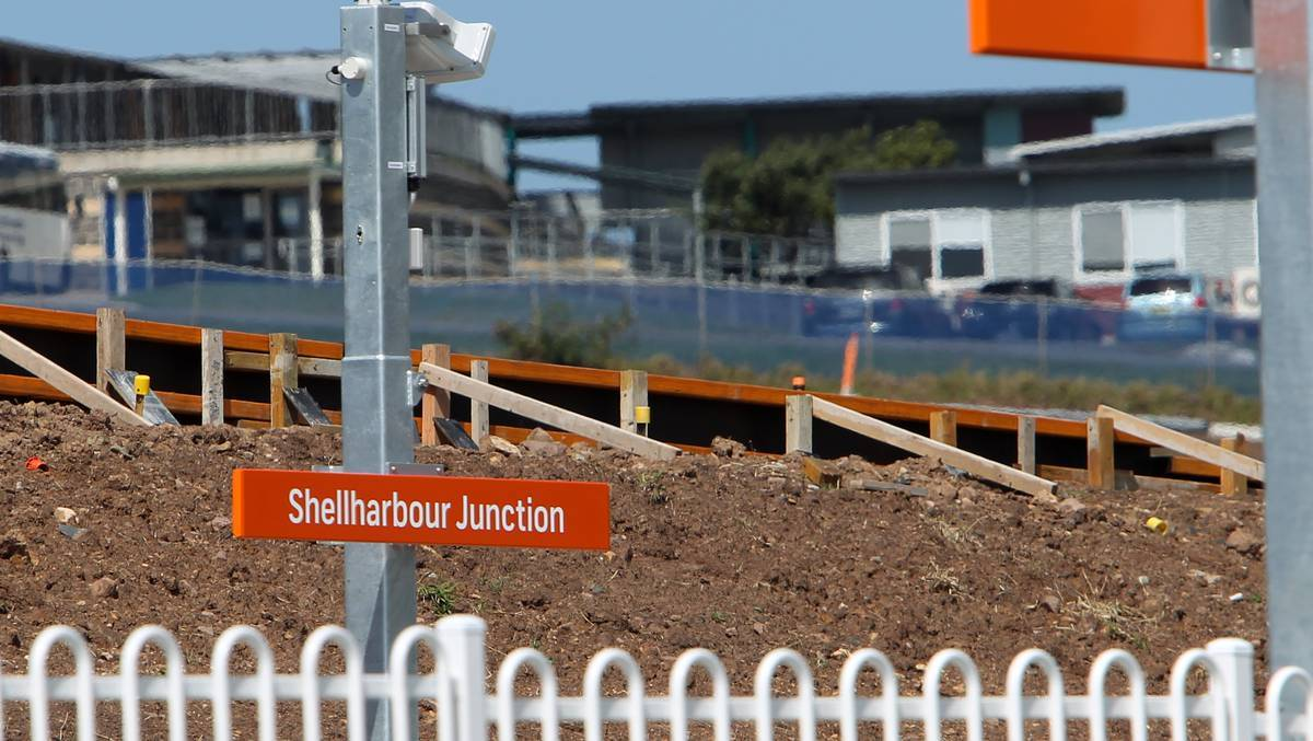 Signs on the new station were erected prior to the name being approved. Picture: GREG TOTMAN