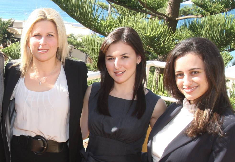 Home grown talent: Natalie Viselli, Jessica Saad-De Angelis and Melissa Abu-Gazaleh together earlier in the careers.