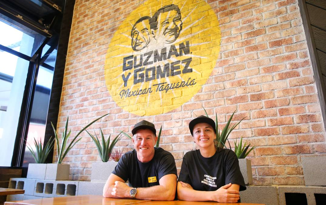 Positions vacant: Franchisees Paul O'Neill and Gabi Antelmi are expecting to open Guzman Y Gomez drive-thru in the Illawarra within 12 months. Picture: Anna Warr.